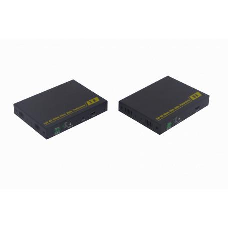 Cable / Extension HDMI Generico HDMI-FIBRA HDMI-FIBRA -Kit TX/RX HDMI/Audio-3,5mm/RS232-3pin WDM-SM-LC Fibra 10km