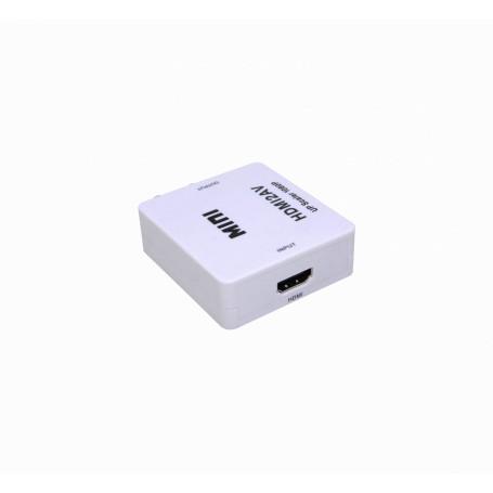 Conversor / Splitter / Switch Generico HDMIRCA HDMIRCA -1-HDMI-in 3-RCA-H-out PAL/NTSC Conversor Video 1080p req-5V-USB
