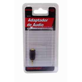 MA-100 -MACROTEL 3,5MM-H 2,5MM-M CONVERTIDOR ADAPTADOR COPLA AUDIO STEREO