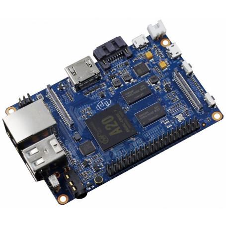 MicroPC pi/bpi Banana pi BPI-M1+ BPI-M1+ -BANANAPI A20 DualCore 1GB req/5V-2A WiFi-U.FL 1-1000 HDMI Aud3,5mm USB