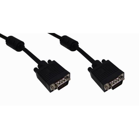 DVI/VGA/RG59/ F/BNC/HDMI Generico VGA-10MM VGA-10MM -10mt VGA M-M Cable Negro Blindado VGA-M VGA-M DB15-M