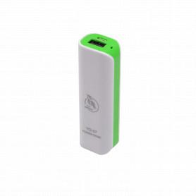 BATERIA-USB -BancoBateria 5V 2600mAh USB Blanca Li-ion requiere-5V