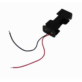 PORTA-2AA -Porta-Pila 2-AA Negro Cable-10cm