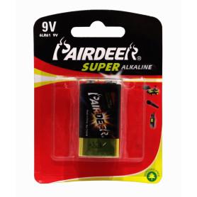 9V-A -PAIRDEER 9V ALKALINA BATERIA 6LR61