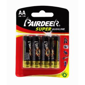 AA-AP -PAIRDEER 4-PILAS-AA BLISTER ALKALINAS LR6 1.5V