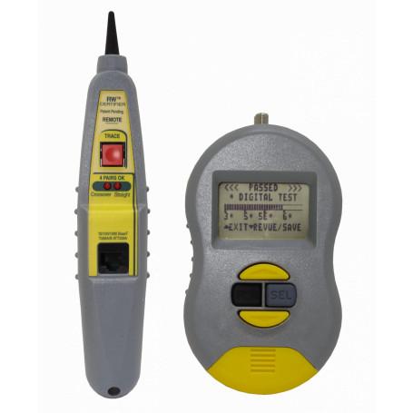 Certificadoras BYTEBROTHERS RWC1000K RWC1000K BYTEBROS Certificadora de red Cat5E/6 2-RJ45 1-F 1-USB-PC inc-Bat-9V