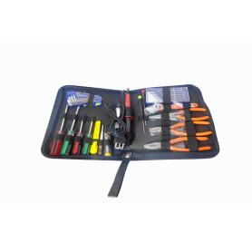ZD-902 -17-Piezas Kit Herramientas Mantencion Electronico Cautin-30W