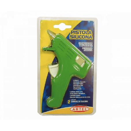 Pegamentos/Silicona  20710001 20710001 ARTEL Pistola Silicona-Caliente Cchica Verde Hot-Glue