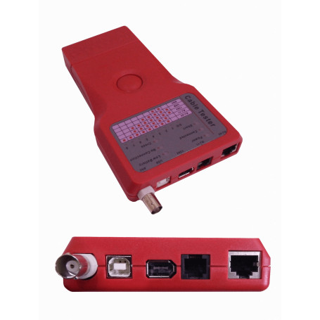 Tester Red LinkChip TS-06 TS-06 -LINKCHIP TESTER 1-USB 1-1394 1-BNC 1-RJ45 1-RJ11 REQ/BAT-9V
