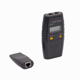 SC6106 -Tester 2-RJ45 BNC Pinzas c/Display c/Audio inc-4-AAA