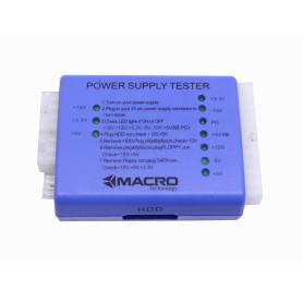 HER1308 -MACRO Tester Fuente Poder para PC ATX BTX ITX 24-pin SATA-IDE