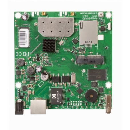 Tarjeta Mikrotik RB912UAG-2HPND RB912UAG-2HPND -MIKROTIK L4 2,4GHZ 2X2 MINIPCIE 1-1000 2-MMCX USB 600MHZ 64MB SIMCARD