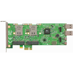 RB14EU -MIKROTIK PCIe-x1 4-MINIPCIE 4-SIMCARD 6-USB Low/Normal-Profile Tarjeta