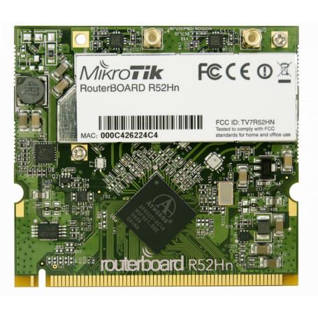 miniPCI miniPCI-e wifi Mikrotik R52HND R52HND -MIKROTIK 2-MMCX 26dBm 2,4GHz/5GHz A/B/G/N300 400mW AR9220 MINIPCI