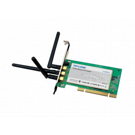 TL-WN951N -TP-LINK 3-RPSMA-2DBI N-300MBPS TARJETA PCI 20DBM 2,4GHZ 100MW