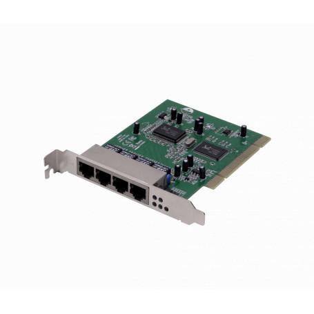 PCI RJ45 SFP Generico RB44L RB44L -PCI-Legacy 10/100 4-100-LAN para Servidor RTL8100CL RTL8305SC