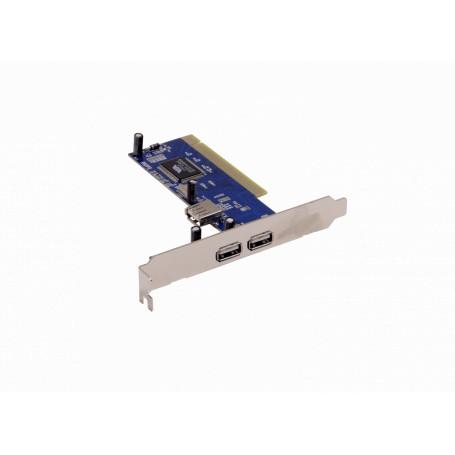 PCI USB / Hub USB Generico PCIUSB2 PCIUSB2 Tarjeta PCI-Legacy 3-USB2.0 2-ext 1-int VIA-VT6210L