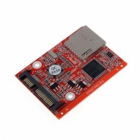 SD-SATA -Adaptador 1-SD a 1-SATA-2.5 7+15 emula-Disco-Duro 73x55mm