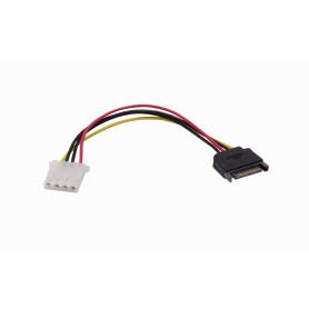 PSATAIDE -1-MOLEX-H 1-SATA-M Cable de poder 15cm