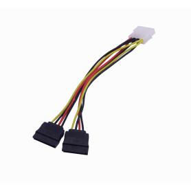 PSATA2 -1-MOLEX-M 2-SATA-H Cable de poder tipo-Y 15cm