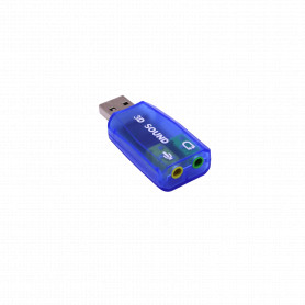 USBSND -Adaptador Sonido USB-AM 2-3,5mm-H 1-in 1-out