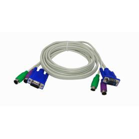 KVM-CB -Cables para KVM 1,5mt VGA-PS2/Macho-Macho 1.5mt 150cm