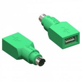 USBH-PS2M -Adaptador 1-USB-A-H a 1-PS2-M Teclado/Mouse USB-PS/2