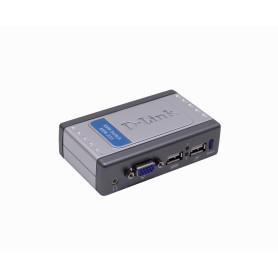 KVM-221 -D-LINK KVM c/Cables-Extraibles VGA USB Audio 3,5mm-H 2-Equipos