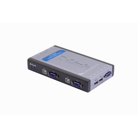 Equipo KVM Dlink DKVM-4U DKVM-4U -D-LINK KVM USB 4-EQUIPOS DESKTOP INCLUYE 2 CABLES