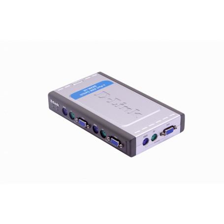 Equipo KVM Dlink DKVM-4K DKVM-4K -D-LINK KVM 4-EQUIPOS DESKTOP INCLUYE 2 CABLES PS2