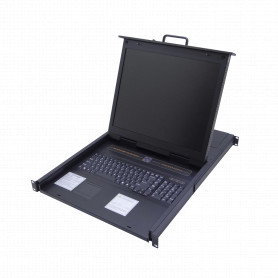 KVM-1916HA -Consola-KVM 16-USB/PS2 inc-16-Cables LCD-Teclado-Mouse 1U-Rack