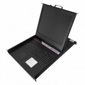 KVM-1908HA -Consola-KVM 8-USB/PS2 inc-8-Cables LCD-Teclado-Mouse 1U-Rack