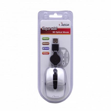 Teclado / Mouse Generico MOUSE-O MOUSE-O OMEGA Mouse Optico USB 3-Botones Scroll Cable-Retractil Blister