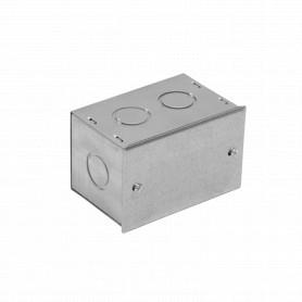 FPCWM-1 -Caja 100x65x65mm c/Tapa-106x69mm Zincada Metalica
