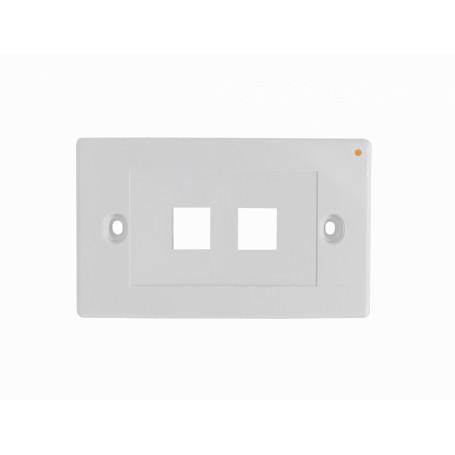 p/Keystone Linkmade FP2HL FP2HL BLANCO 2x HORIZONTAL FACEPLATE 70x114mm