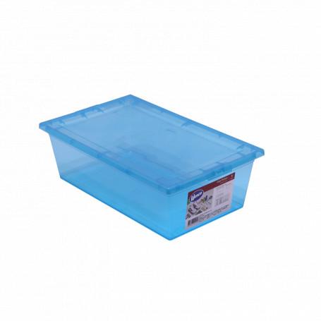 Gaveta/Caja Plastica  PLA-6 PLA-6 -WENCO Caja c/Tapa 6Lts Color/Tr 21x34cm 11cm-Alt PP Rectangular Mybox