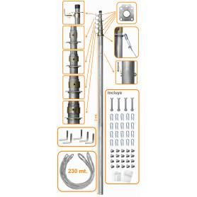 MAST-50 -LINKMADE 50PIES-15MT MASTIL TELESCOPICO C/VIENTOS