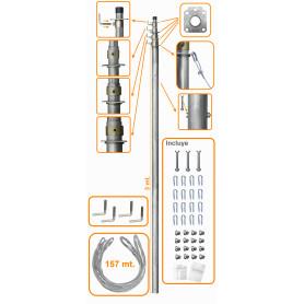MAST-40 -LINKMADE 40PIES-12MT MASTIL TELESCOPICO C/VIENTOS