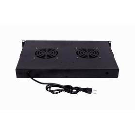 RAT-1L -LINKMADE 1U 2-Ventiladores Negro c/Switch-Encendido 220VAC