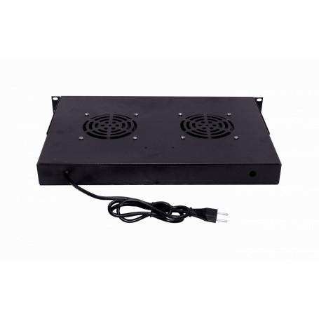 A/C - Ventilacion Linkmade RAT-1L RAT-1L 1U 2-Ventiladores Negro c/Switch-Encendido 220VAC
