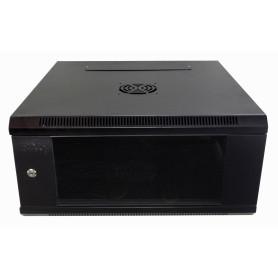 Gabinete 2-15U cerrado Linkmade RK04-6L RK04-6L 60CM-FONDO 4U RACK PARED MURAL NEGRO