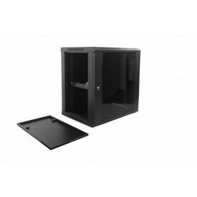 Gabinete 2-15U cerrado Linkmade RK12-4L RK12-4L -LINKMADE 45cm-Fondo 12U Gabinete Rack Pared Negro inc/M6-4KIT/2U