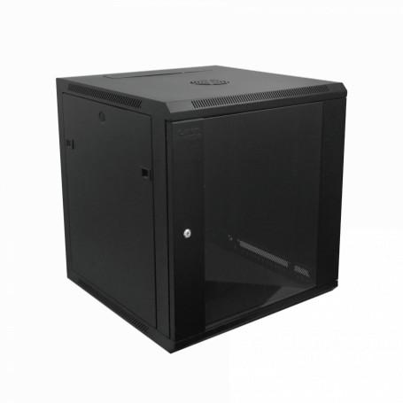 Gabinete 2-15U cerrado Linkmade RK12-6L RK12-6L 60cm-Fondo 12U Gabinete Rack Pared Negro inc-M6-2U