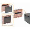 Gabinete 2-15U cerrado Linkmade RK06-4L RK06-4L 45cm-Fondo 6U Gabinete Rack Pared Negro inc-M6-2U