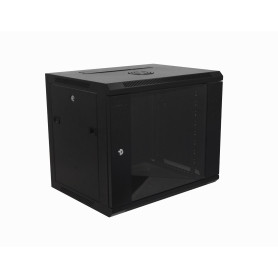 Gabinet 2-15U cerrado Linkmade RK09-4L RK09-4L 45cm-Fondo 9U Gabinete Rack Pared Negro inc-M6-2U