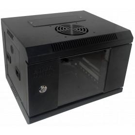 RK1004-3L -LINKMADE Rack 4U 10-Pulgadas-Ancho 30cm-Fondo Negro Puerta-Vidrio