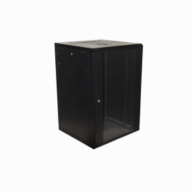 RK18-6L -LINKMADE 18U 60cm-Fondo Negro inc-2U-M6 Rack Gabinete Pared