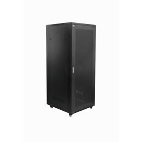 RK42-9P8L -LINKMADE Rack 42U 800mm-Ancho 900mm-Fondo Negro c/2-Ordenador-Vertical