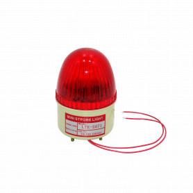 LTE-5071-220V -Baliza-Rojo LED Exterior 220VAC Diametro-6,7cm Altura-10cm