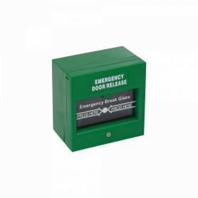 ZKABK-900A -ZK Boton Emergencia Verde Door Release 87x87x51mm 6-pin